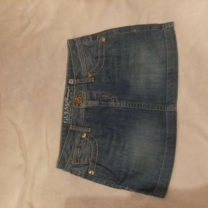 Guess Jeans Denim Mini Skirt Size 26